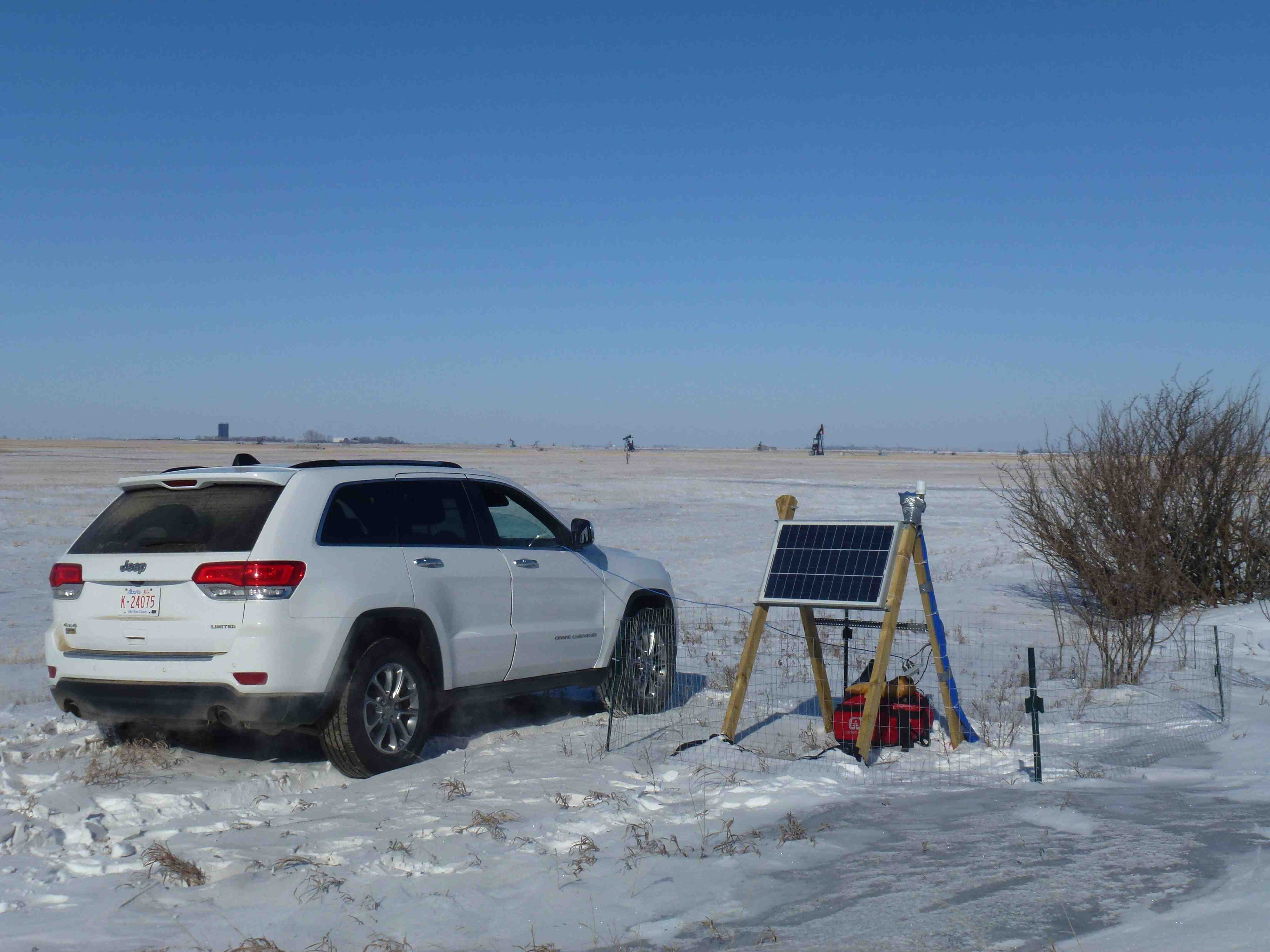 Servicing one of our Weyburn sites in the depths of the Canadian winter, with temperatures as low as -20<sup>o</sup>C